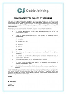 Environmental Policy Statement 2015